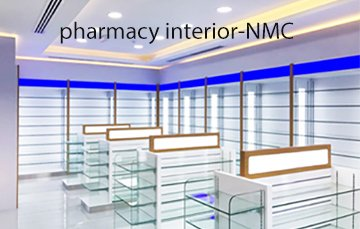 interior design for NMC pharmacy Ajman