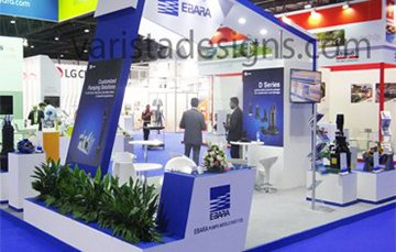ebara exhibition stand at WETEX dubai