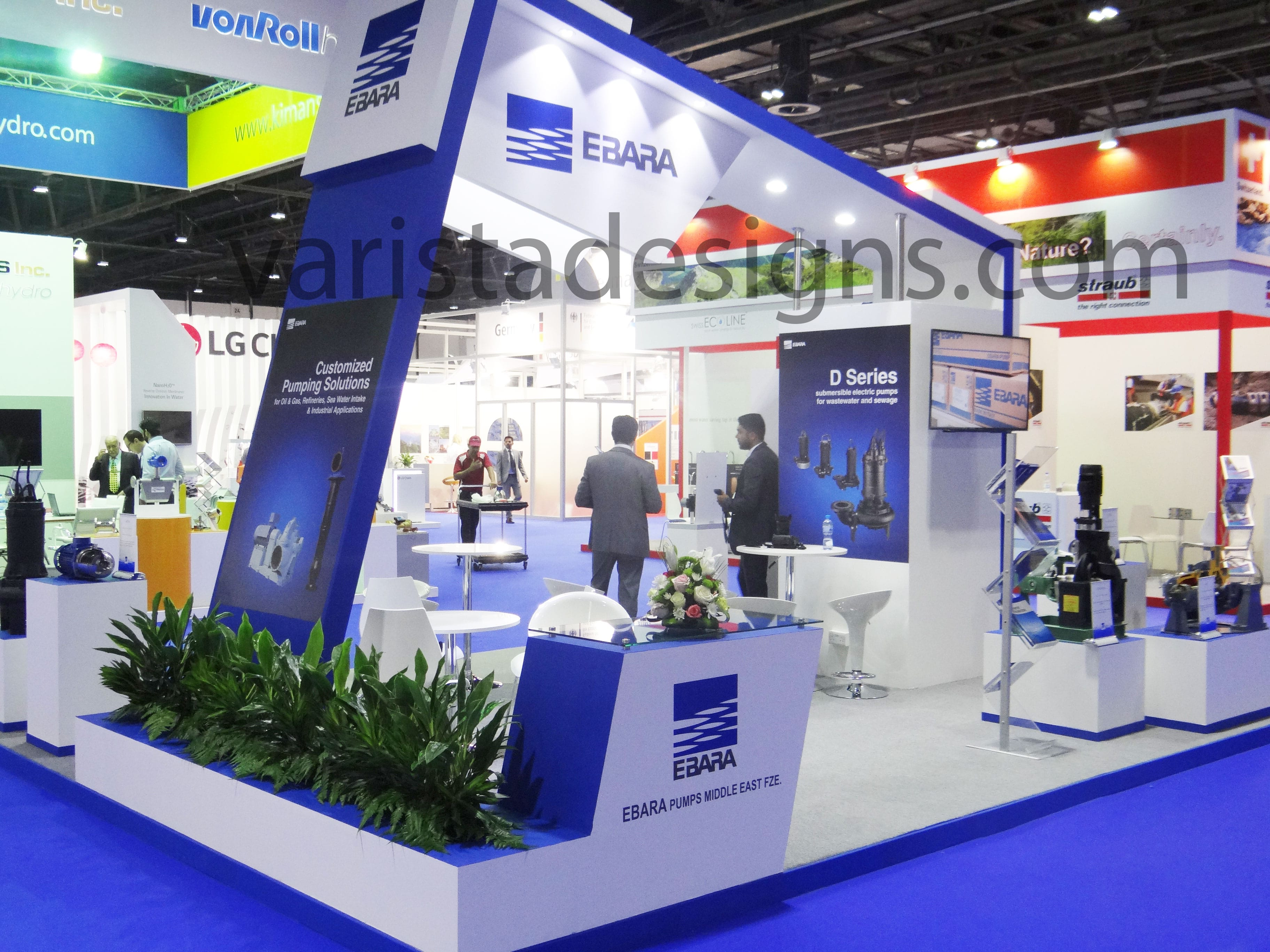 Exhibition Stand Builders In Sharjah : Exhibition stand buildup for ebara at wetex