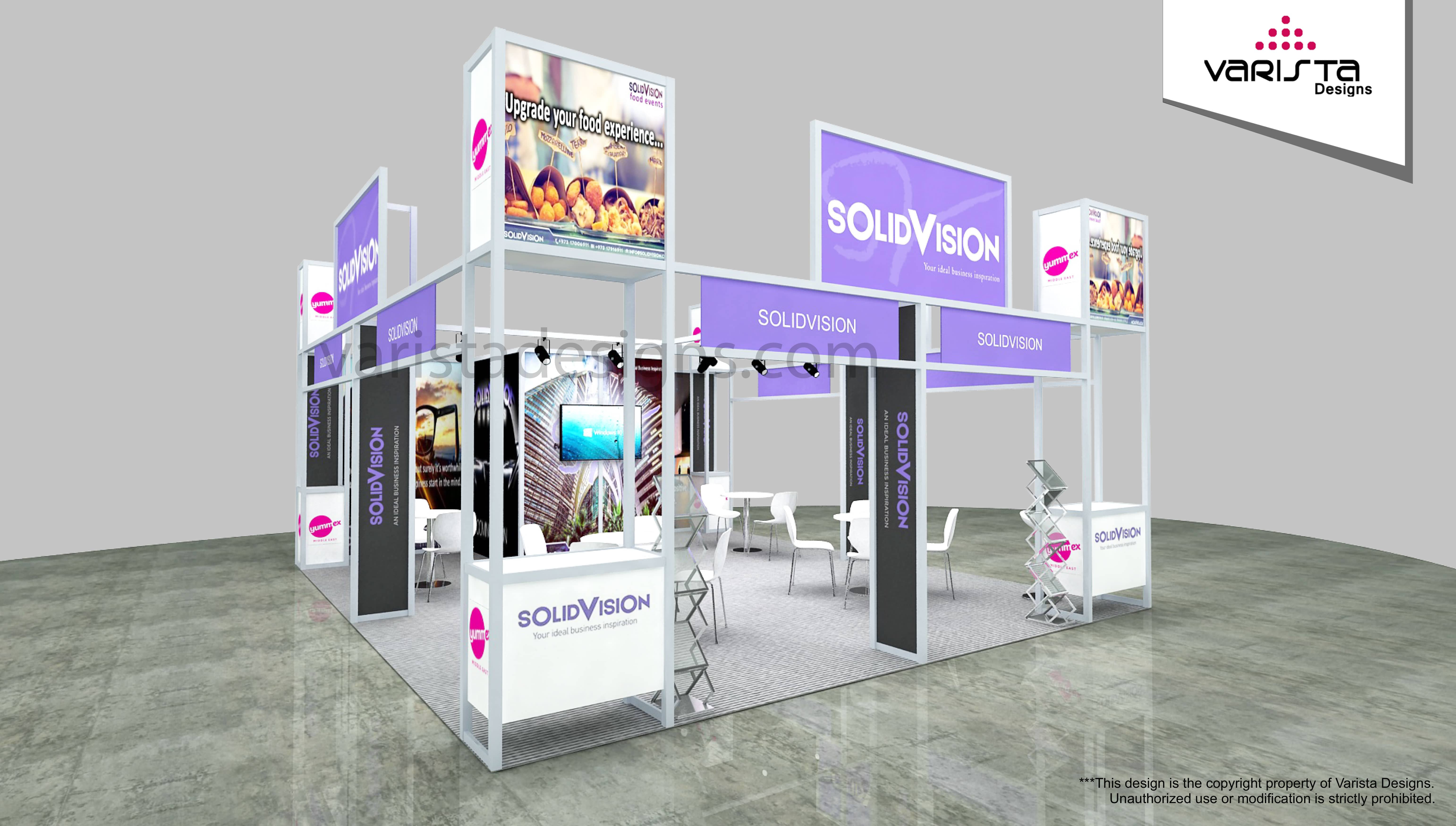solid vision Exhibition stand design for SEAFEX and YUMMEX