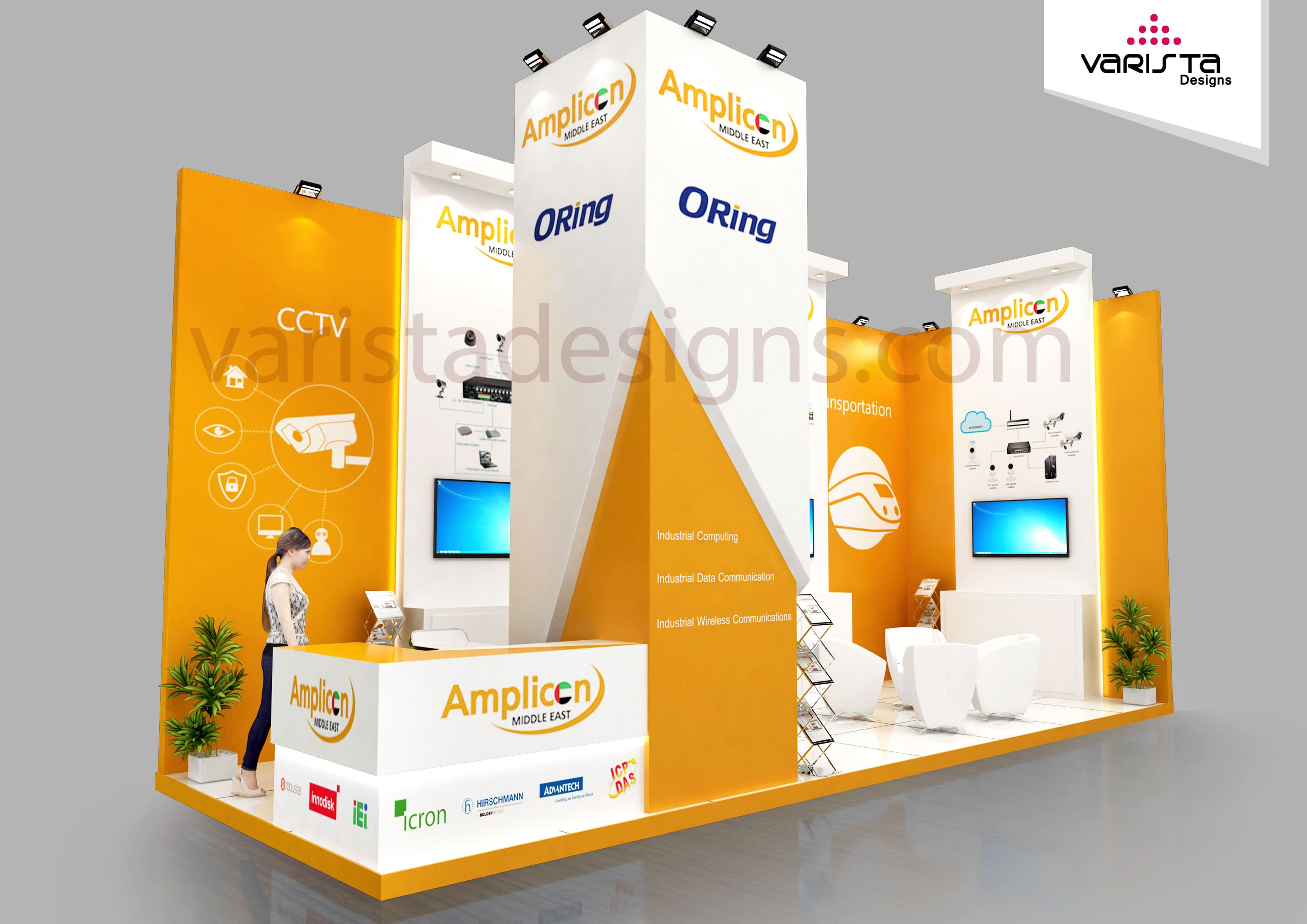 Amplicon exhibition stand gitex Dubai