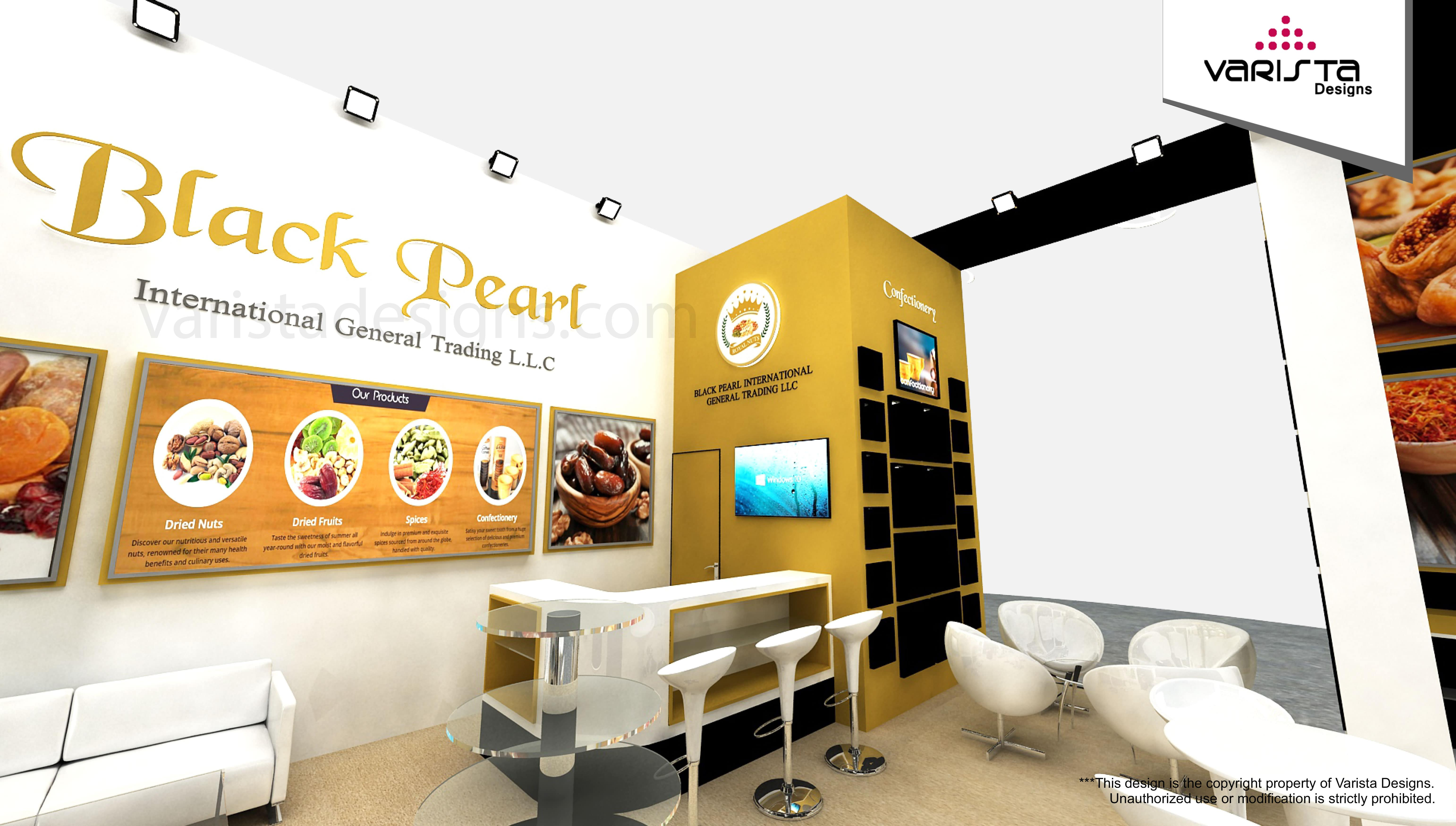 Black Pearl International General Trading Exhibition stand Dubai