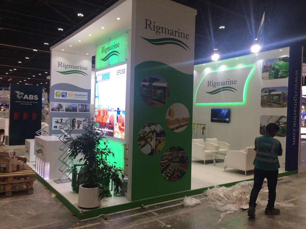 Exhibition stand rigmarine