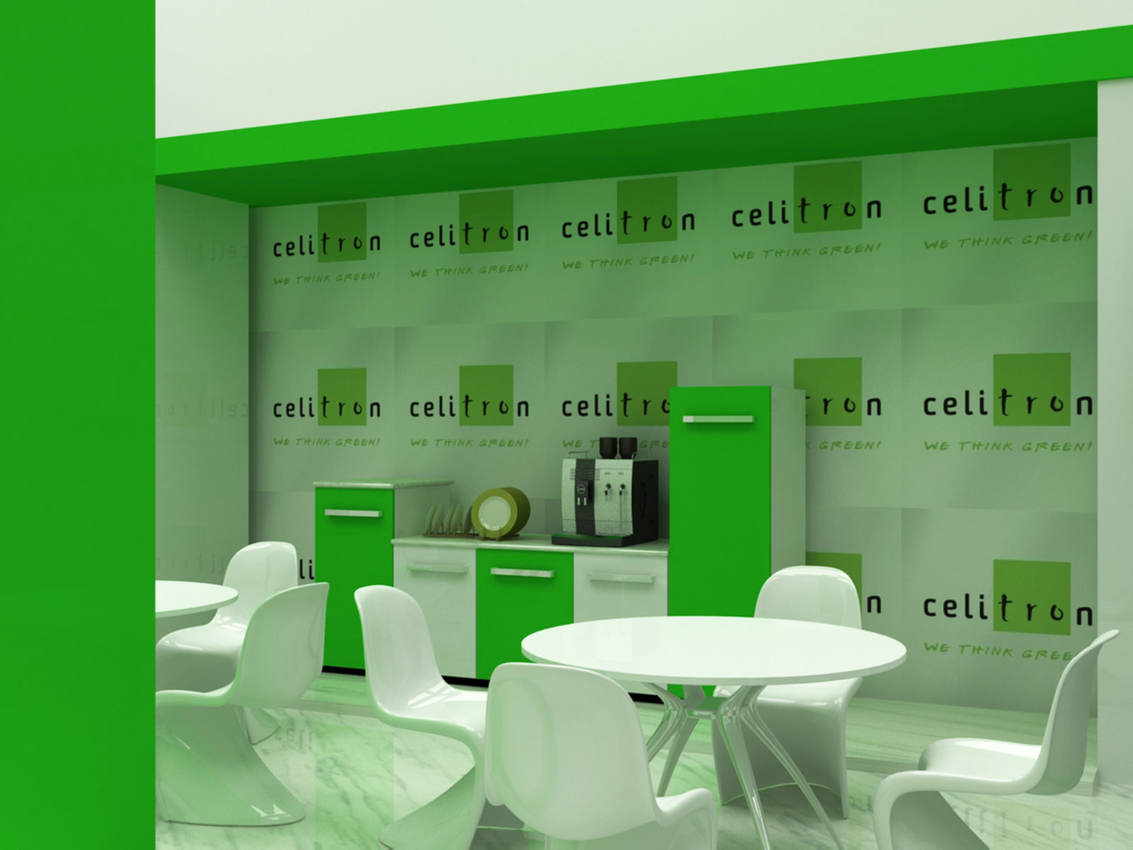 exhibition stand build for celitron dubai