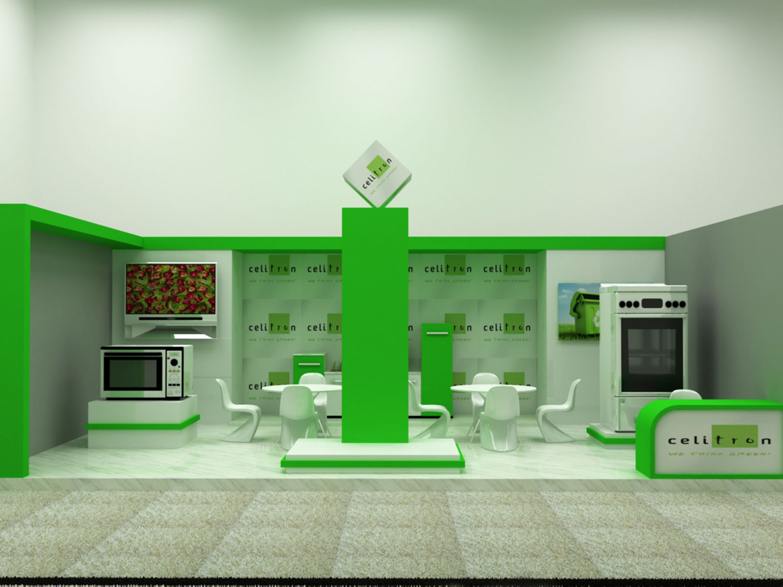 exhibition stand build for celitron dubai