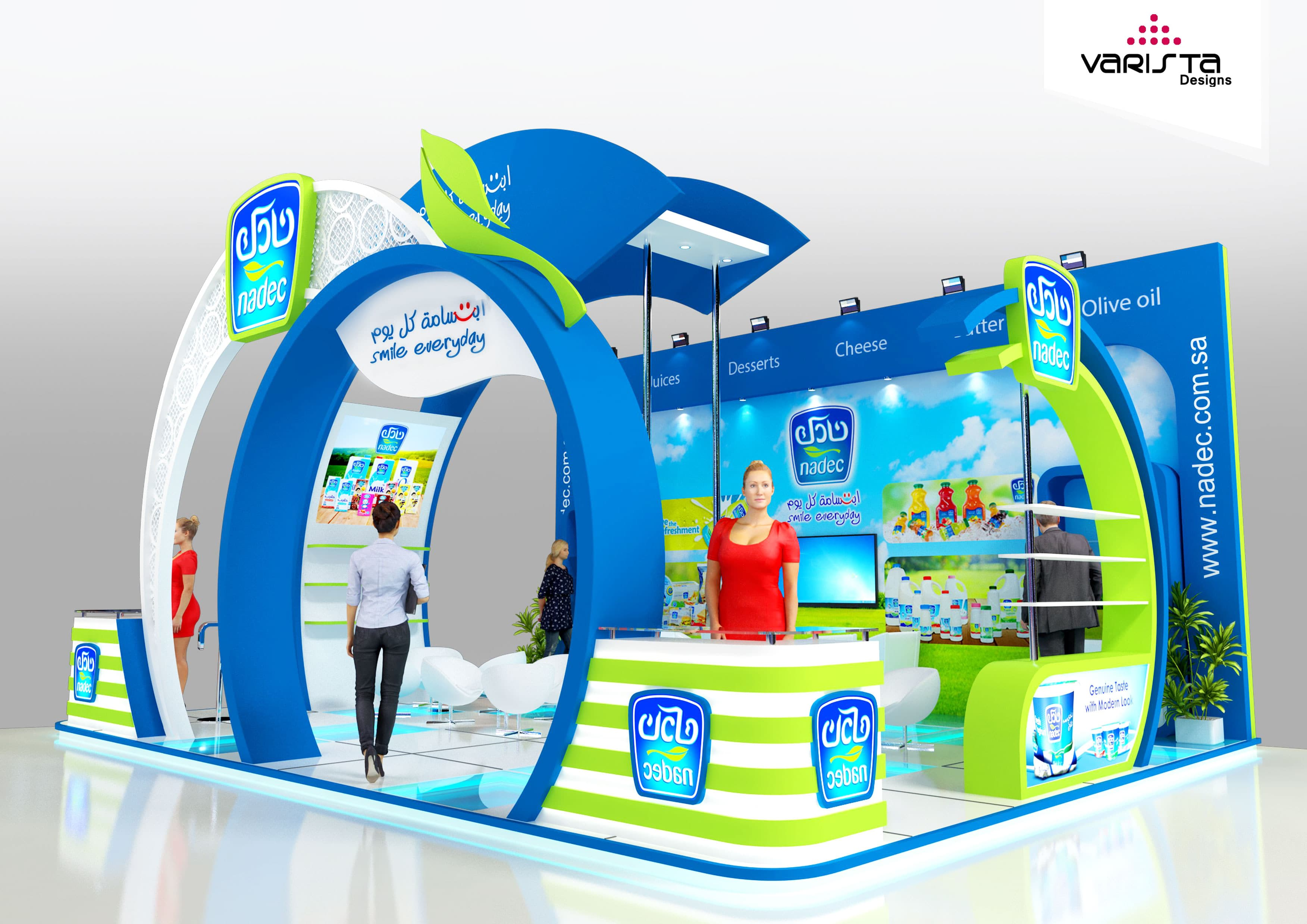 Nadec exhibition stand for gulf food dubai