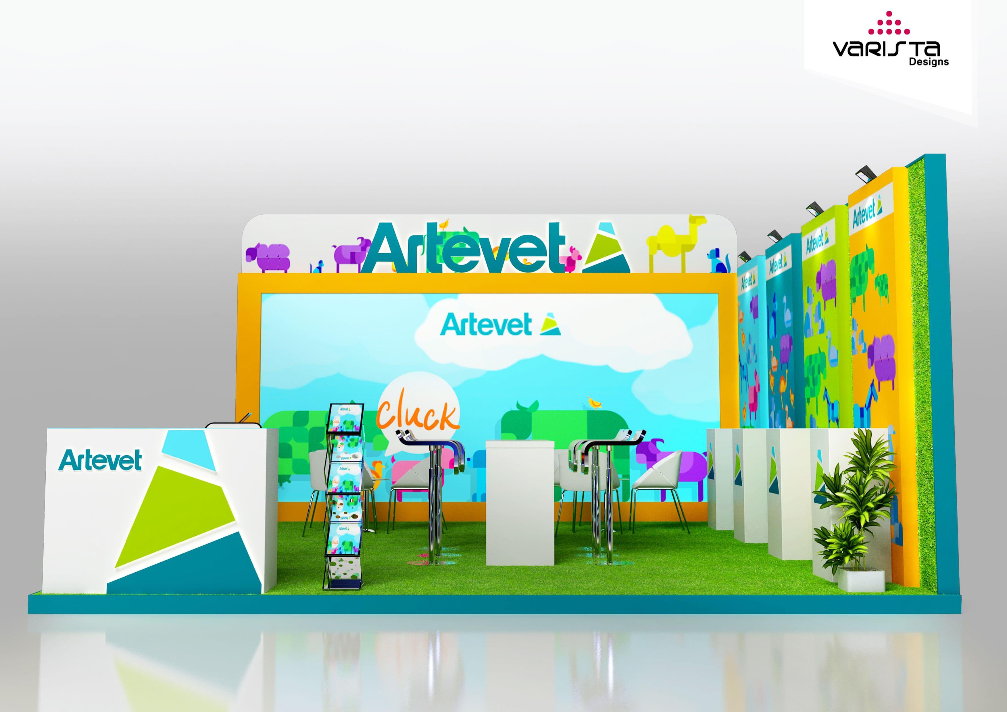 artevet exhibition stand designs at abudhabi