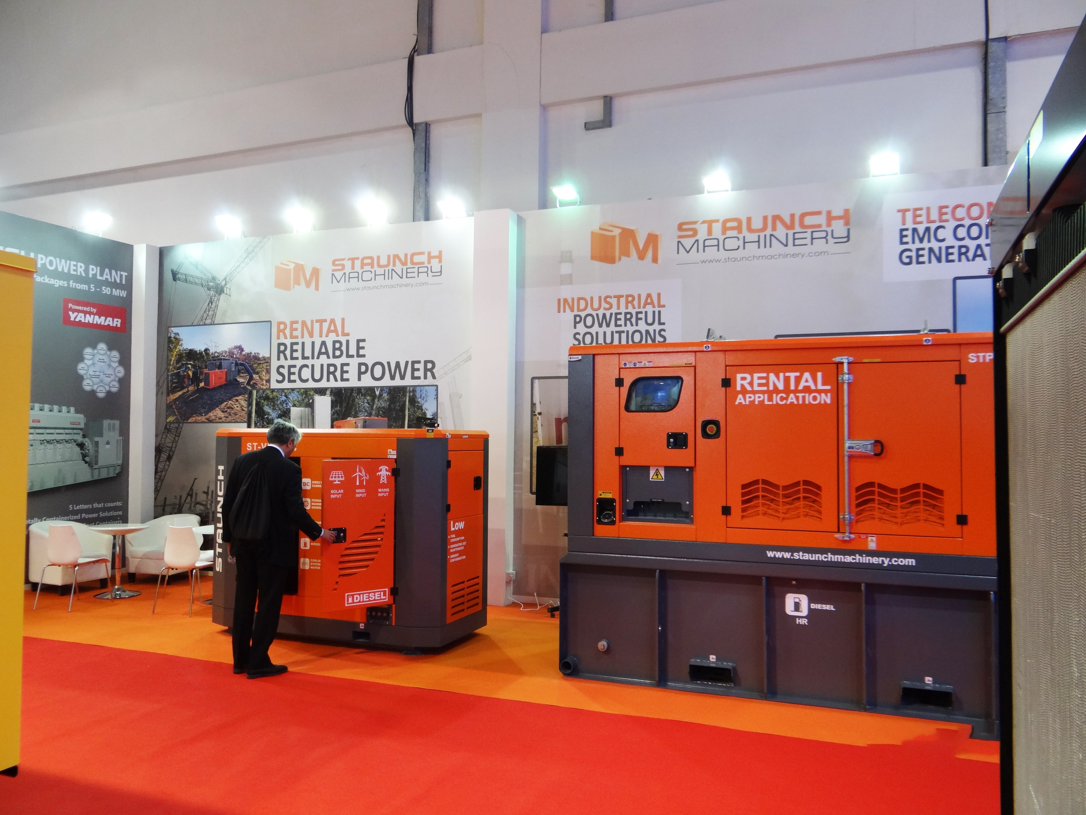 staunch machinery exhibition stand builders in dubai