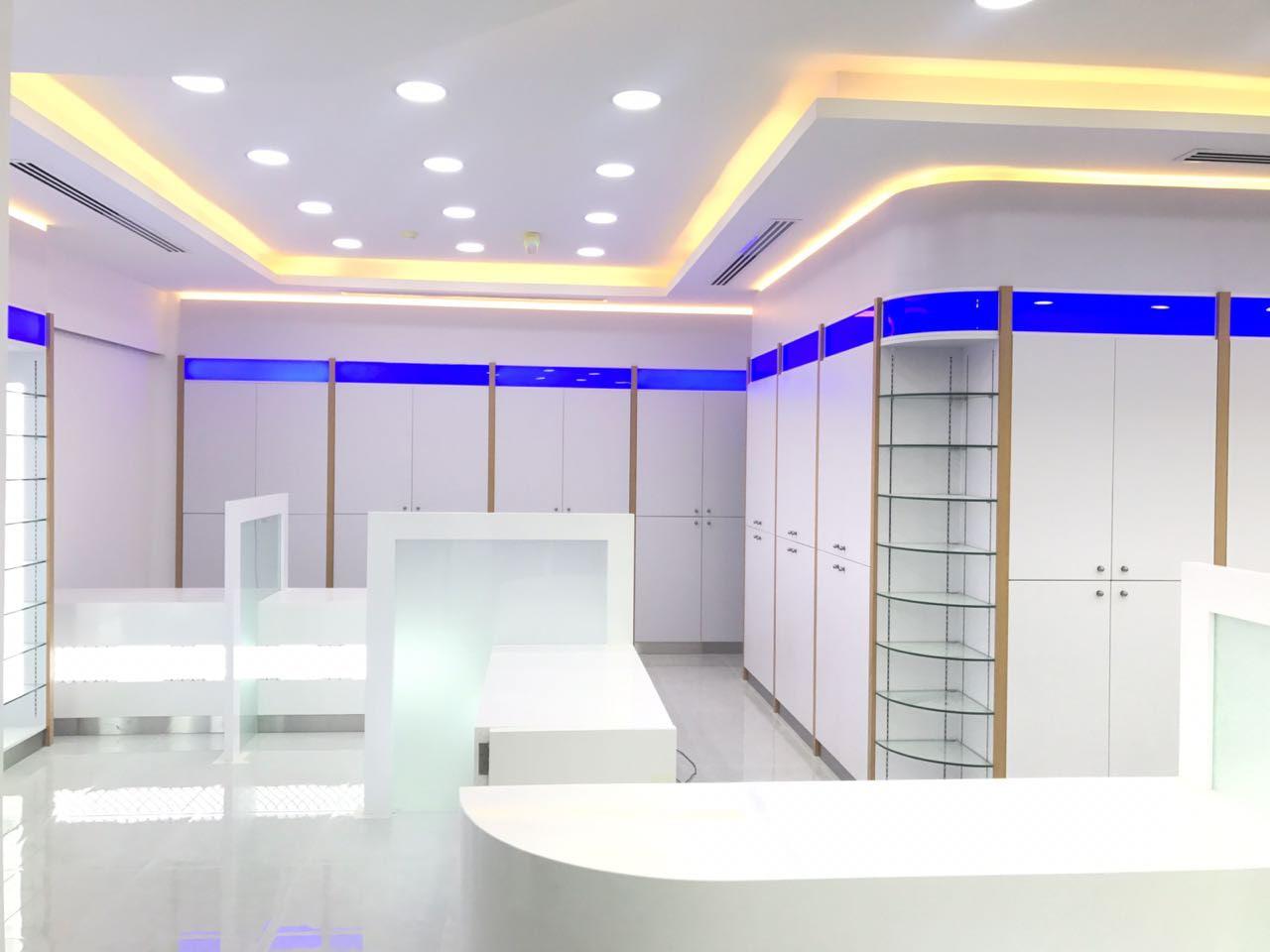 nmc pharmacy interior design fitout company in dubai