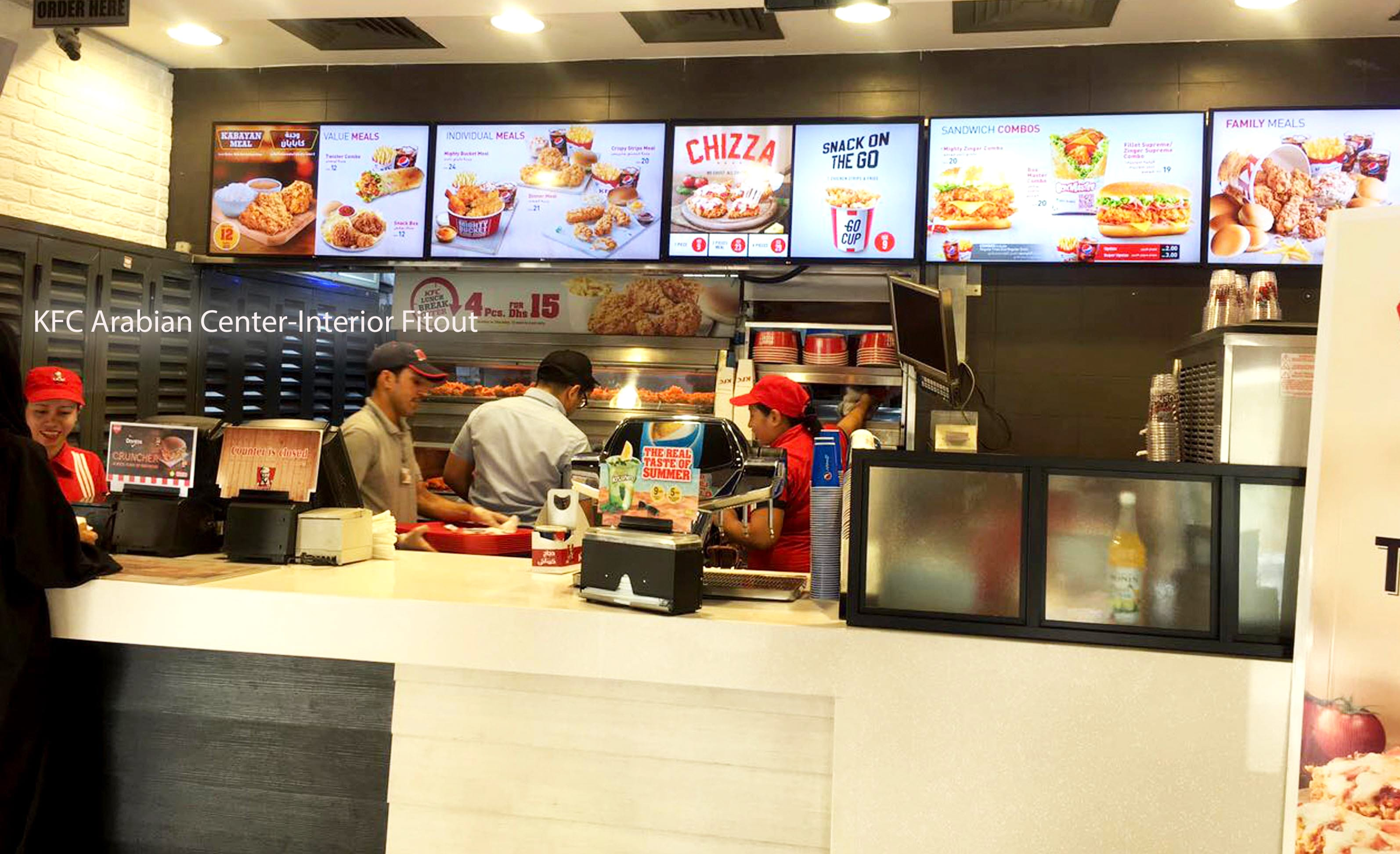 interior design for kfc by varistadesigns