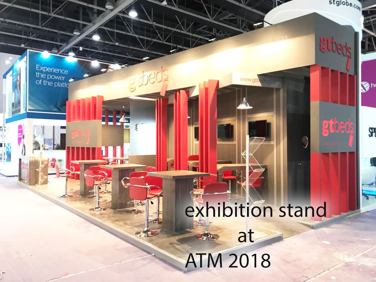 gtbeds exhibition stand for ATM Dubai