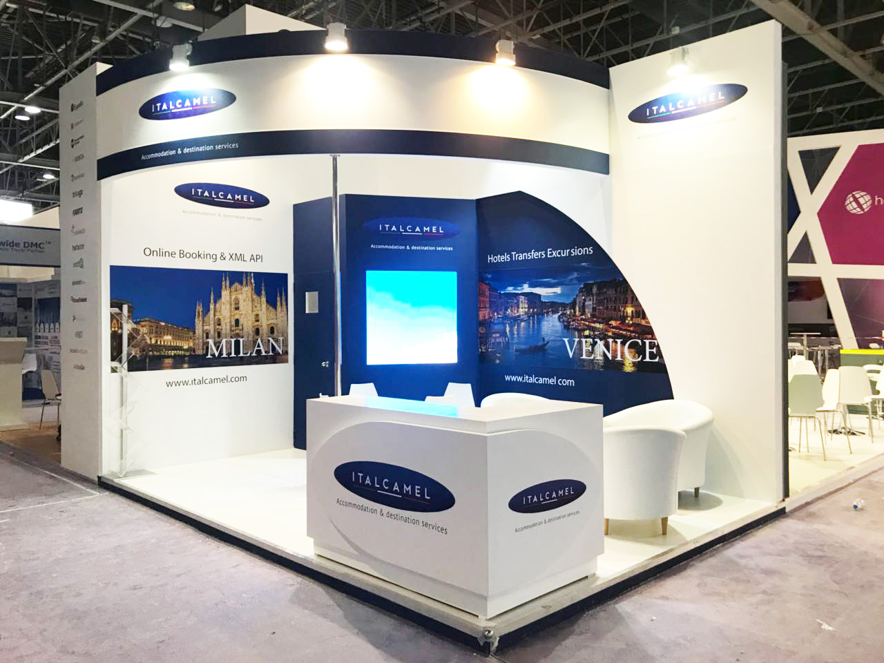 varistadesigns exhibition stand for italcamel at Arabian Travel Market Dubai