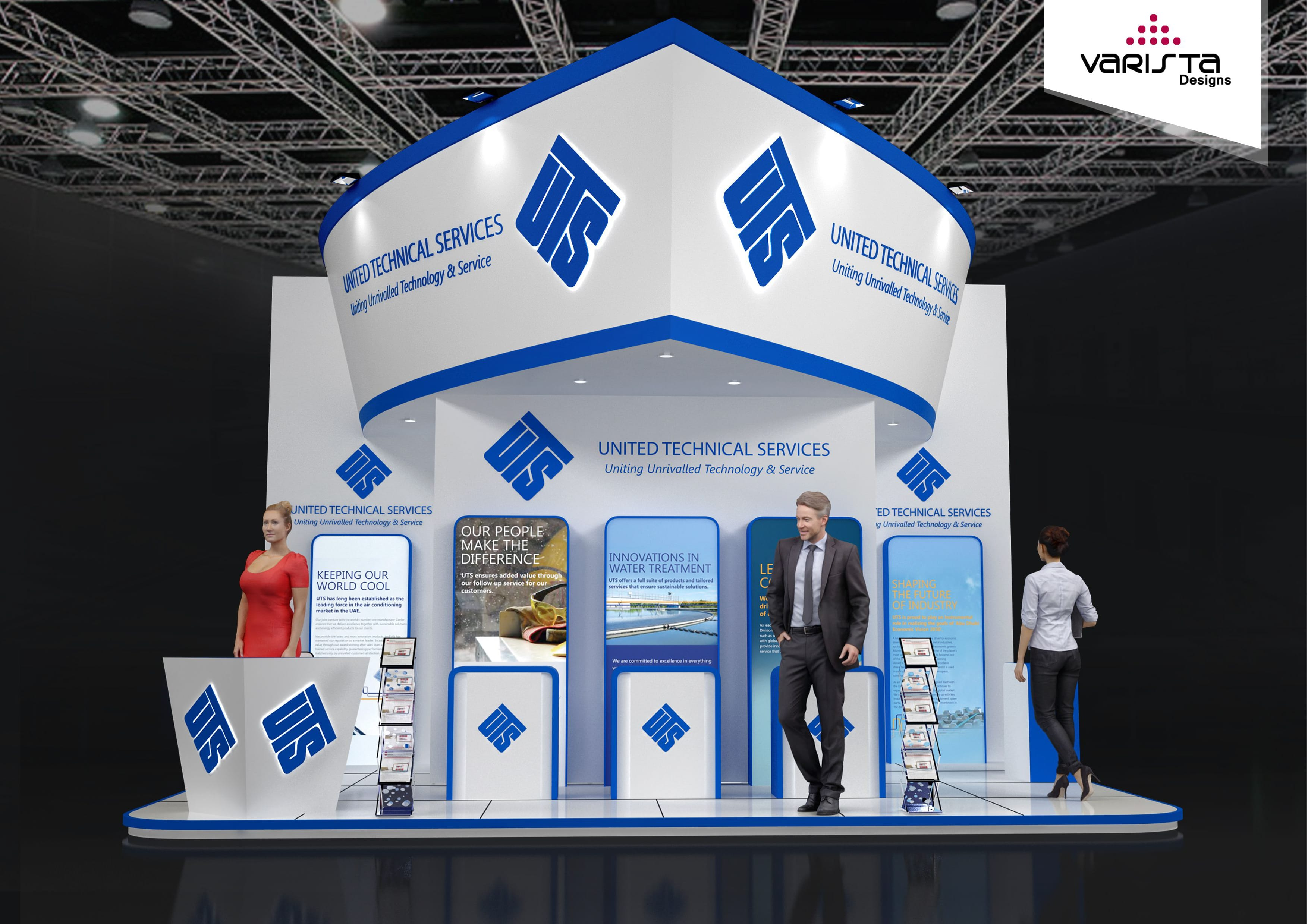 Seatrade exhibition stand for United Technical Services