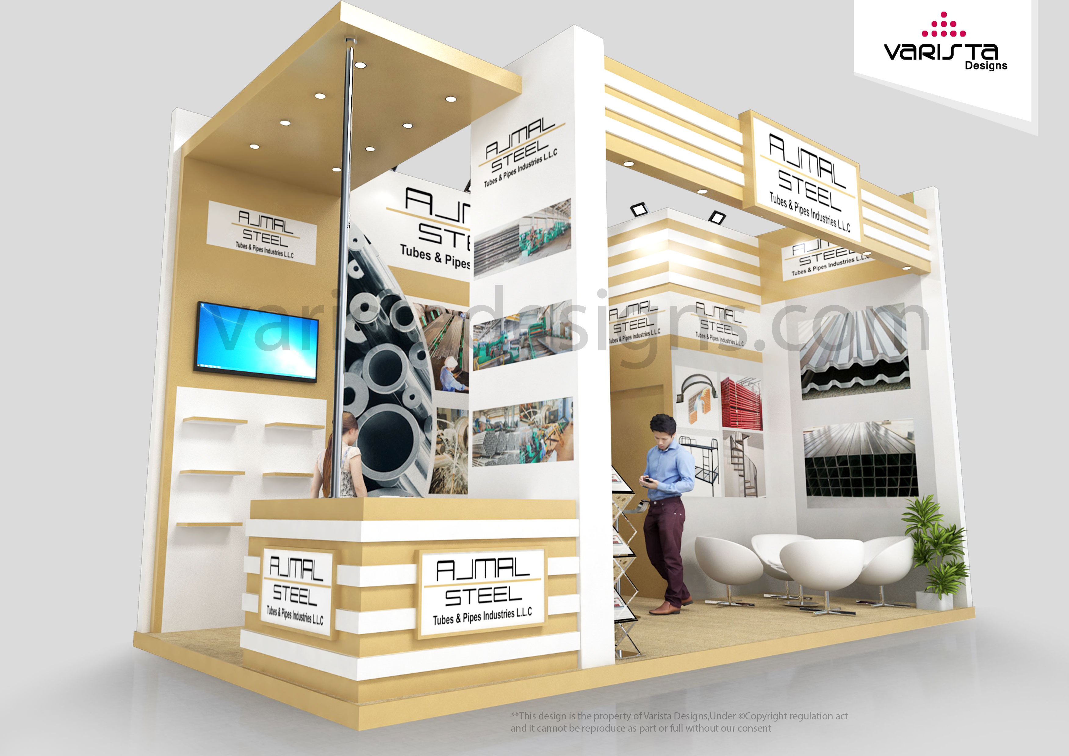 Ajmal Steel tubes & pipes industries exhihition stand design at Big5 Dubai
