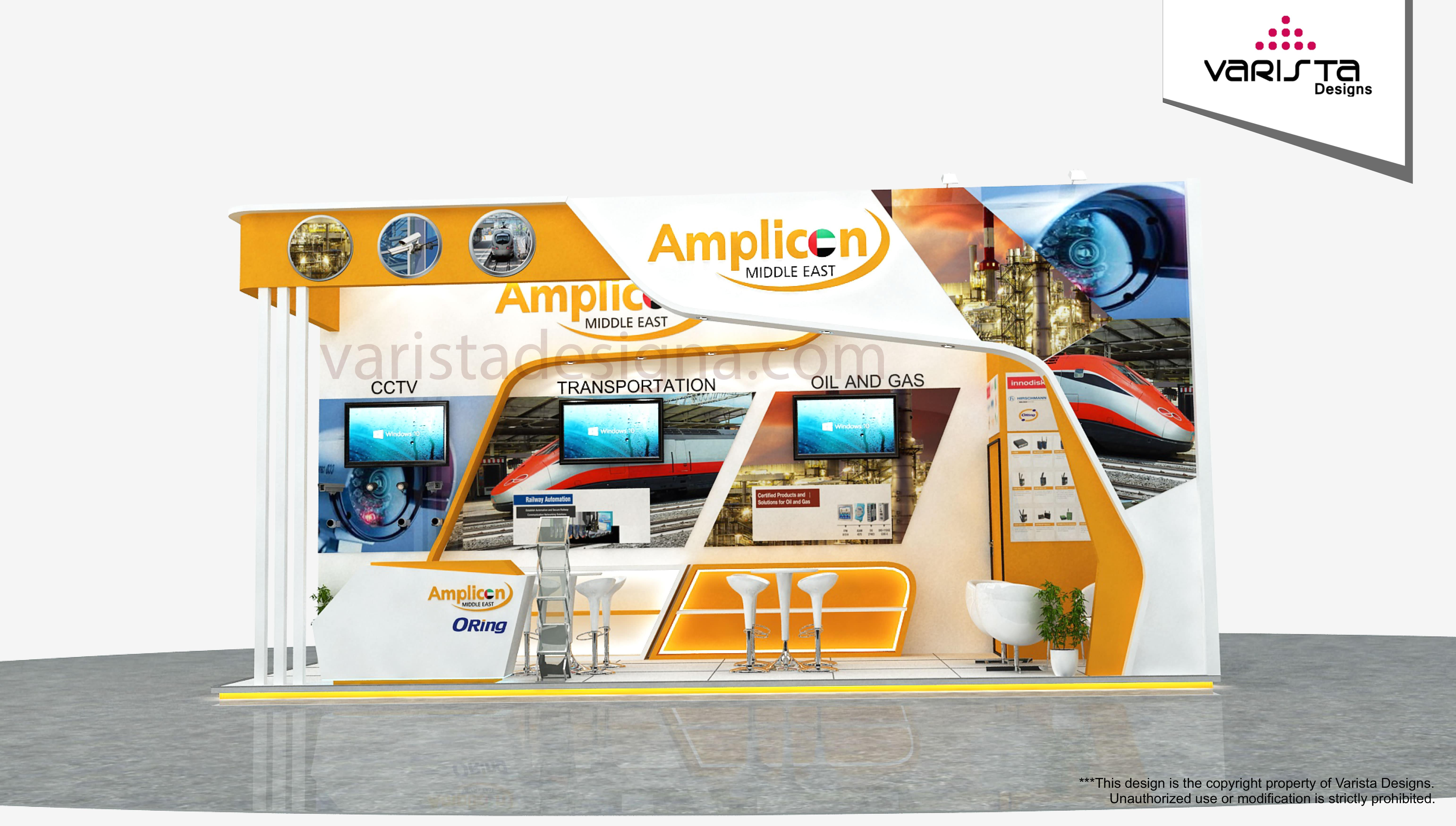 Amplicon exhibition stand gitex Dubai