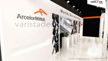 ArcelorMittal exhibition stand design by varistadesign