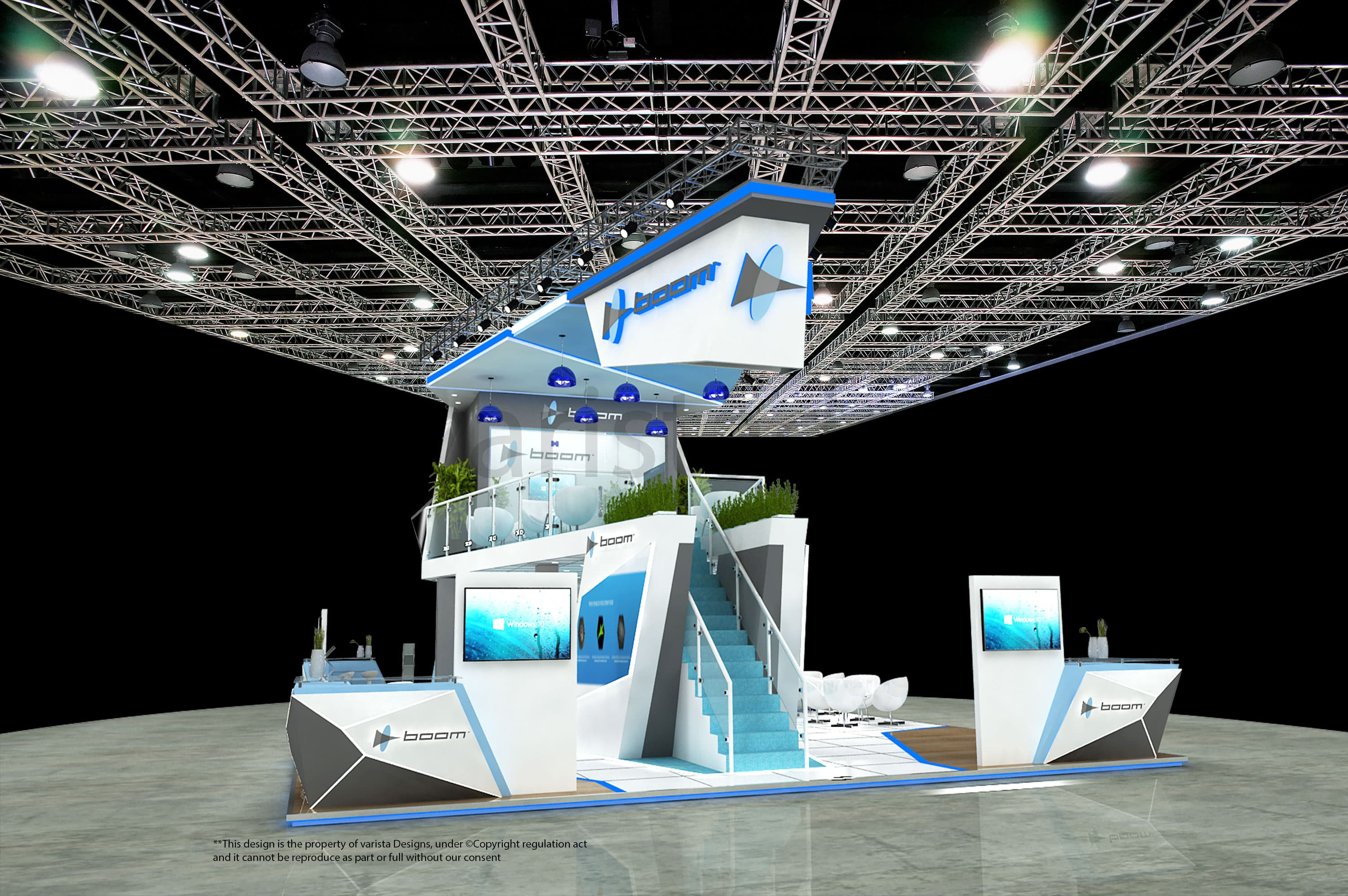 boom exhibition stand designed by varistadesigns