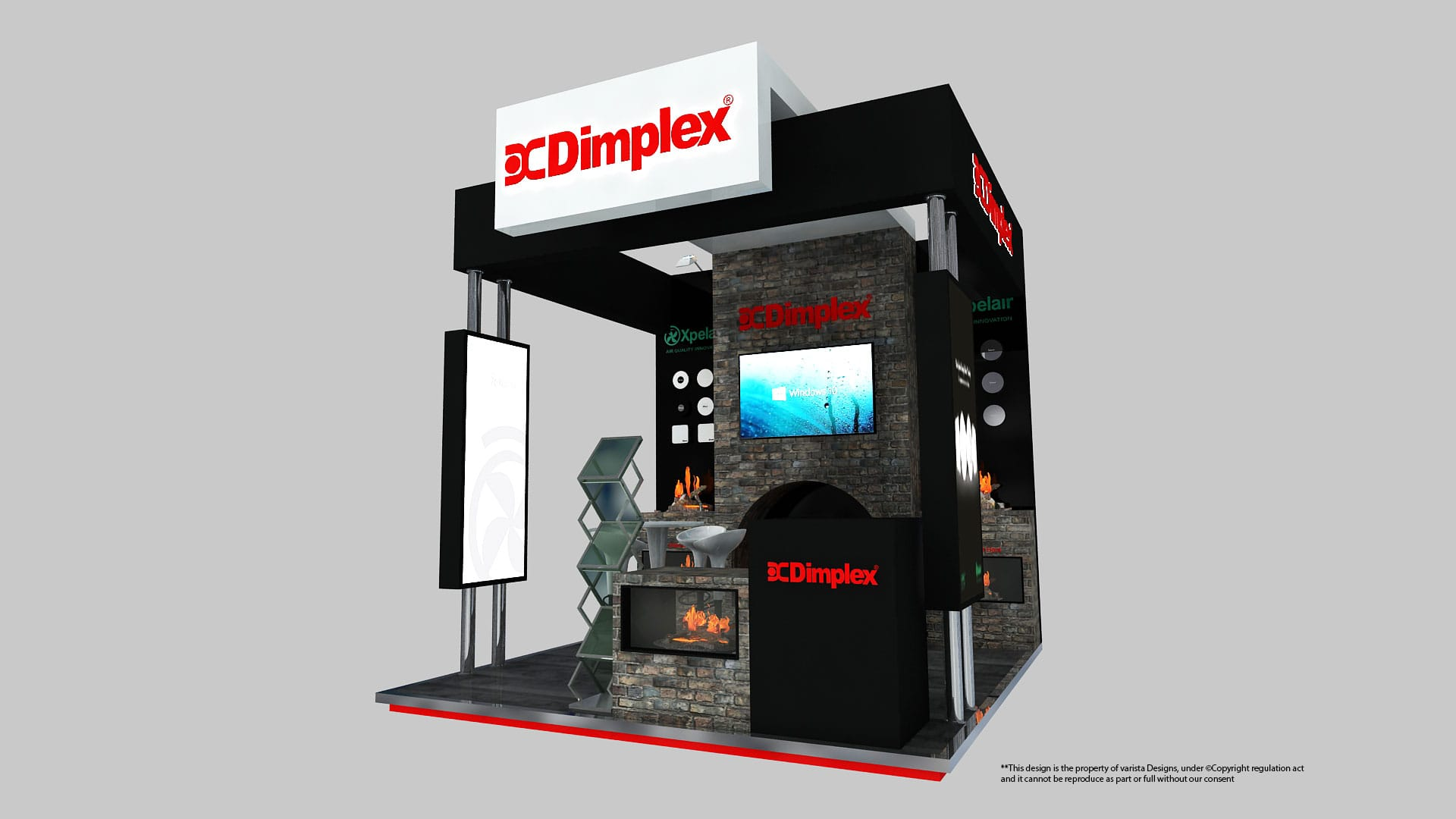Dimplex exhibition stand designs at middle east covering