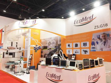 ecomed exhibition stand for arabhealth Dubai