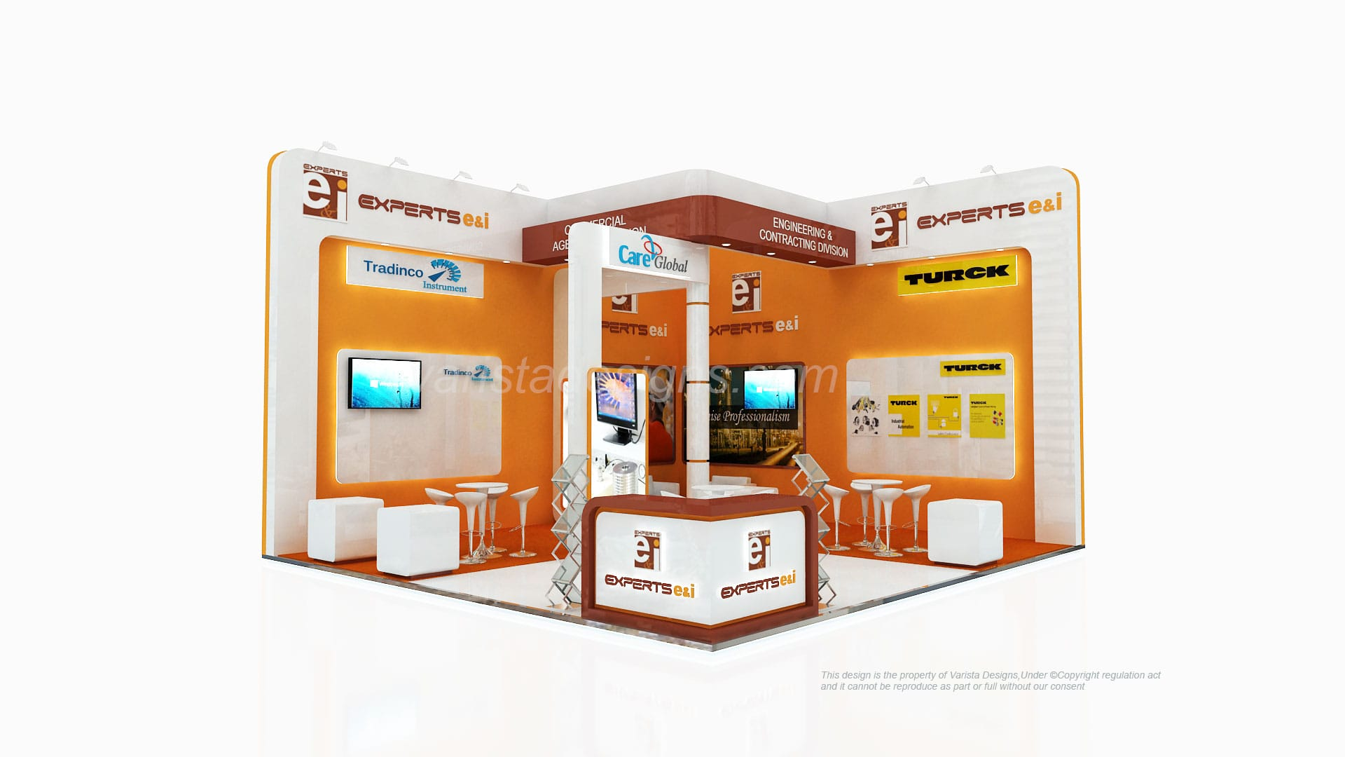 expert e&i exhibition stand at adipec abudhabi