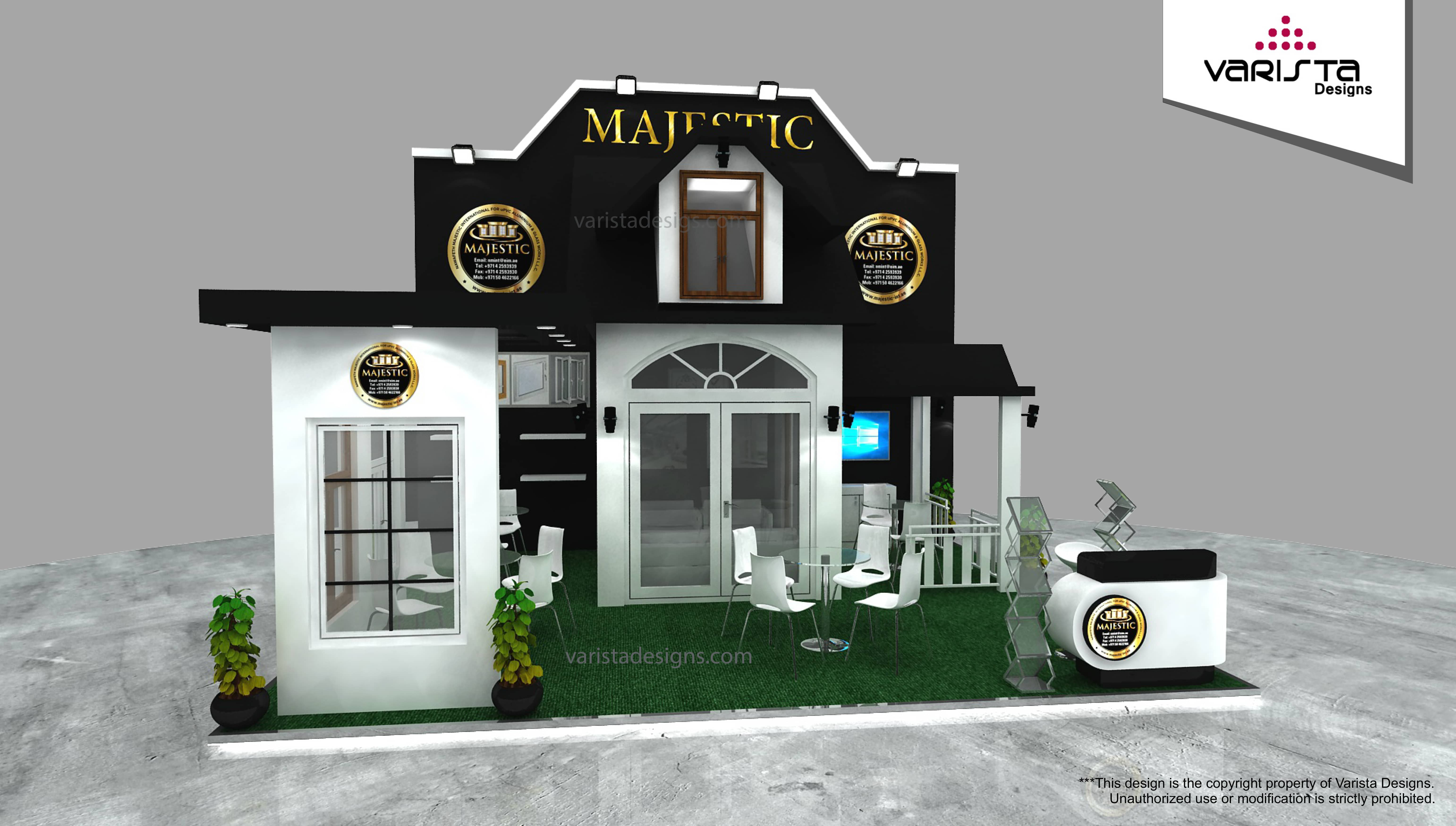 Majestic exhibition stand design in dubai