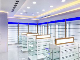 nmc pharmacy interior design fitout company in dubai