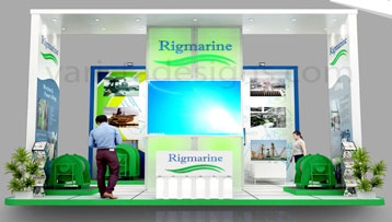 Rigmarine exhibition stand at ADNEC abudhabi