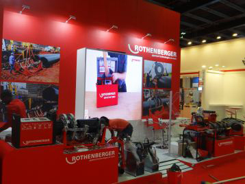 rothenberger exhibition stand for worldskill in abudubai