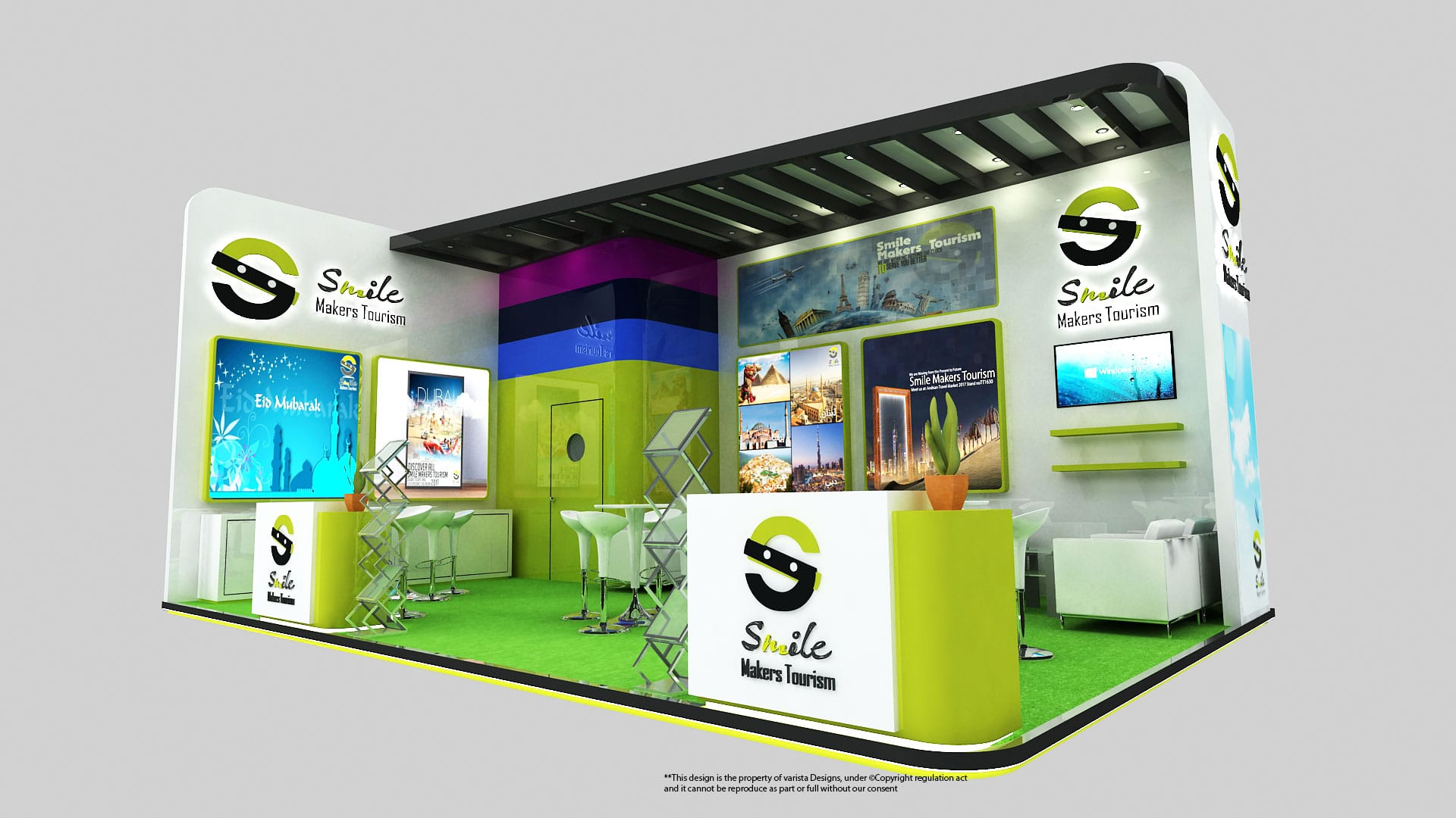 smile makers tourism exhibition stand design dubai