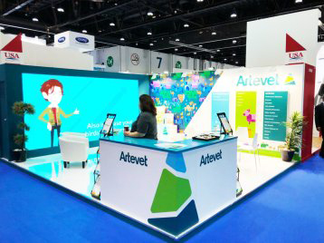 artevet exhibition stand for adnec Abu Dhabi