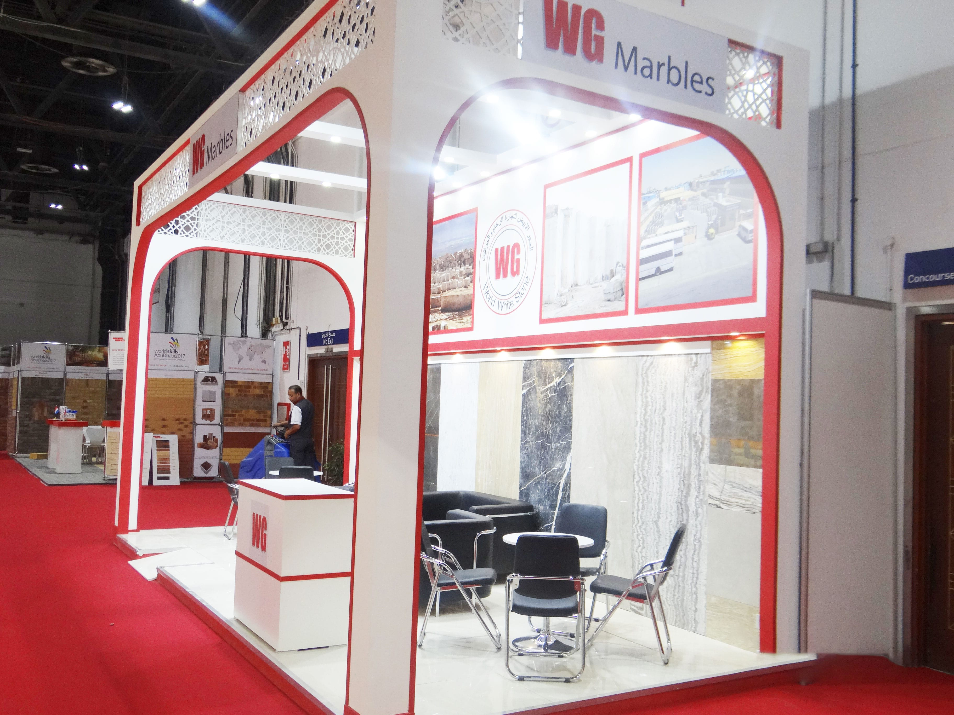 varistadesigns WG marbles exhibition stand