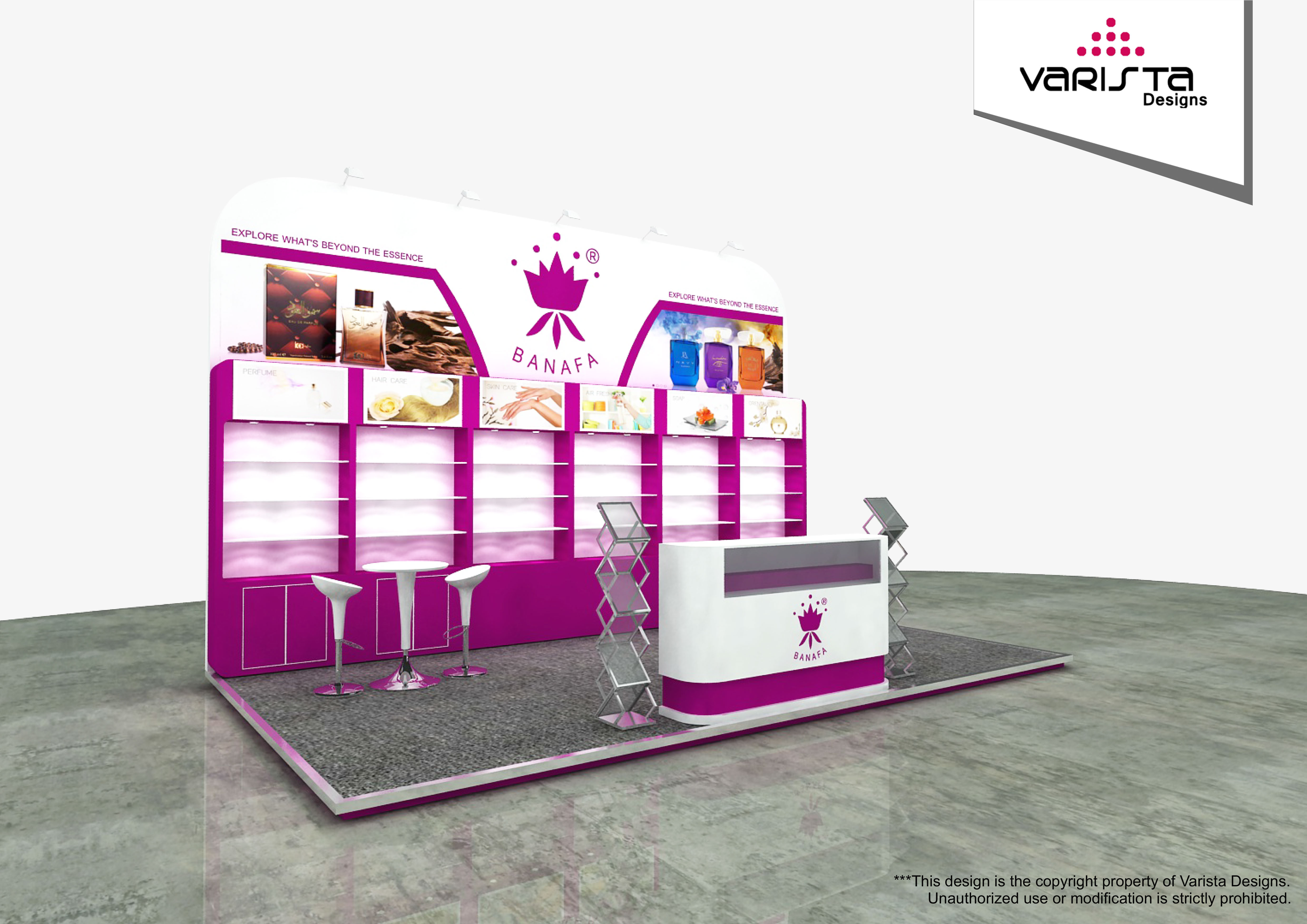 beauty world exhibition stand Abudhabi